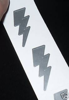 50 TANNING STICKERS TATTOOS LIGHTNING THUNDER BOLT