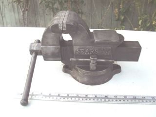 HEAVY DUTY 4 JAW BENCH VISE WITH SWIVEL BASE MADE IN USA