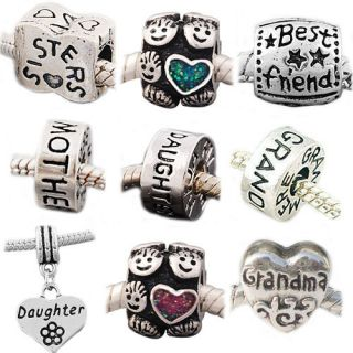 20+ Choices*1X Bead*Family LOVE Theme #3*fit Charms bracelets*US*buy 3