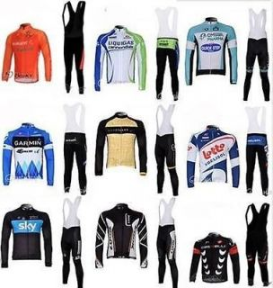 2012 new team bike bicycle bike cycling jersey+ bibs pants suites