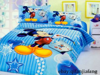 DISNEY MICKEY MOUSE QUEEN 8PC COMFORTER IN A BAG (latest styles