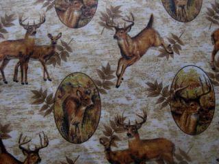 Curtain VALANCE Deer lodge rustic antler buck bark fern