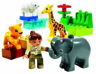 LEGO DUPLO   BABY ZOO SET #4962 ~ Bear Elephant Lion Giraffe NEW