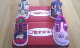 BOYS GIRLS CHIPMUNKS CANVAS INFANTS SHOES SZ 4,5,6,7,8,9