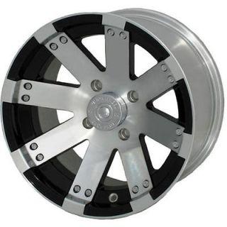 14x8 Machined Black Wheel Vision Buck Shot (158 ATV) 4x136