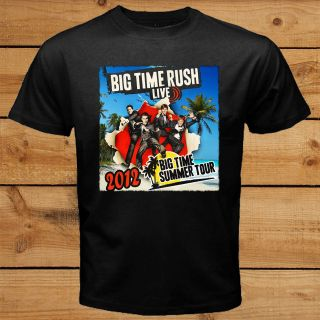 Big Time Rush Band BTR Summer Tour 2012 TV Series Black T Shirt Tee S