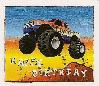Birthday Monster Truck Edible Image ~ Edible Image Icing Cake Topper