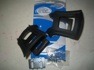 Mountain bike cycle / bike pedal strapless toe clips with fittings