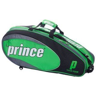 Prince 2010 Tour Team 6 Pack Tennis Racquet Bag   Black/Green