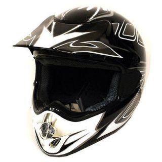 Adult Motocross BMX MX ATV Dirt Bike Helmet Speeding Black S M L XL