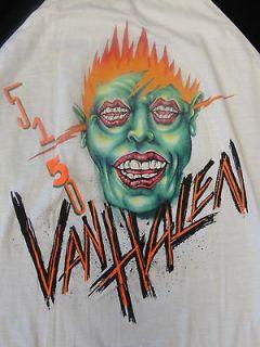 RARE Original Vintage Van Halen Concert 5150 Tour Baseball Jersey T