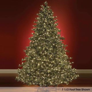 Foot Noble Prelit Fir LED Clear White Lights Artificial Christmas Tree