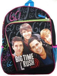 Nickelodeon Kids Big Time Rush Boy Band School Book Bag Backpack