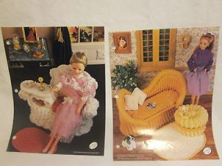 Crochet Barbie Fashion Doll French Settee Wicker Gossip Bench Pattern