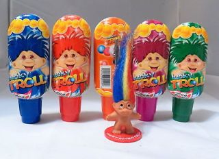 NEW MINI TROLL BINGO DAUBERS 5 IN THE SET WITH TROLL TICKET HOLDER