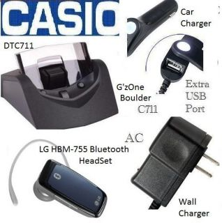 DeskTop+2 CHARGER+EarSET}Verizon phone Casio GzOne C711 G1G2 Boulder