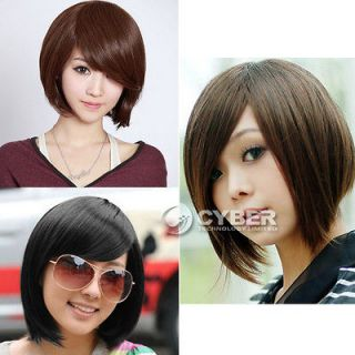 Womens Girls Sexy Short Fashion Straight Hair Wig 3 Colors Available