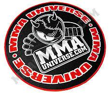 Logo Patch (Large)   Black [MMA UFC GI Brazilian Jiu Jitsu Kimono