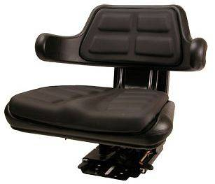 Case IH Black Universal Tractor Seat w/ Suspen Tracks & Adj Angle Base