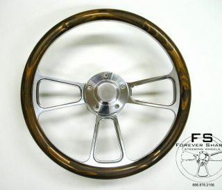 14 Stained Pine Wood Half Wrap Steering Wheel Set for Yamaha Golf