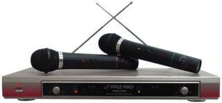 Pro PDWM2000 Dual VHF Wireless Microphones System Receivers Mics Mic