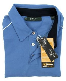 New BOBBY JONES X H2O Blue Microfiber Stretch Polo Golf Shirt 2XL XXL