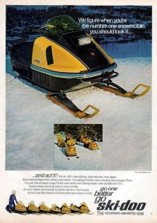 1971 Ski Doo Elan Snowmobile Original Color Ad