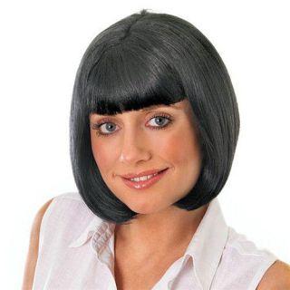 Ladies Fancy Dress Wig Hair Pulp Fiction Character Mia Bob Black