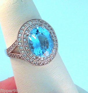 blue diamond ring in Vintage & Antique Jewelry