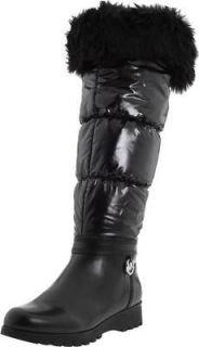 New Michael Kors Brandy FoldDown Snow Tall Knee Boots Shoes Black