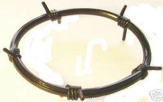Pack BLACK BARB WIRE Rubber Bracelet Barbed Goth Punk