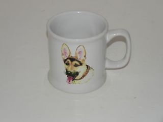 German Shepherd Coffee Cup Puppy Dog Drink Mug White with Dog picture