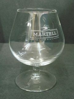 MARTELL COGNAC STEMMED BRANDY GLASS PUB HOME BAR USED