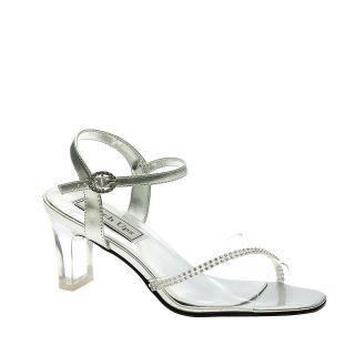 Carmella Silver Dress Low Heel Bridal Wedding Shoes