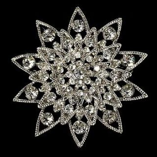 Starburst Crystal Bridal Brooch Comb Cake Brooch