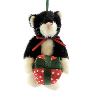 Boyds Bears Plush LIL PURRSLEY ORNAMENT 4023960 Christmas Cat Present