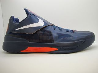 473679 400] Mens Nike Zoom KD IV Midnight Navy White Team Orange