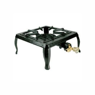 Single Burner Cast Iron Propane LP Camp Camping Stove