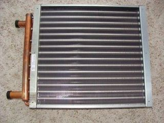 16 x 22 Water to Air Heat Exchanger ,Coil, Outdoor wood Boiler