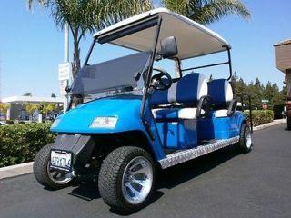 STAR GOLF CART 6 PASSENGER SEAT LIMO CALIFORNIA street legal CUSTOM