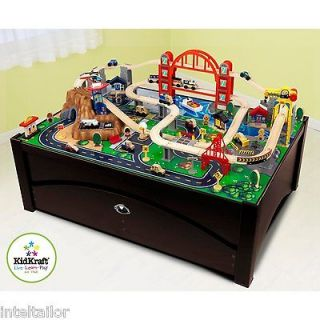 Metropolis Train Table with storage draw NEW COMES WITH TRAIN SET