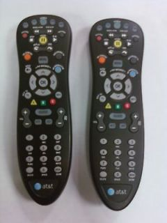 AT&T U verse (2) Cable Black Remote Controls, replaces silver ones too