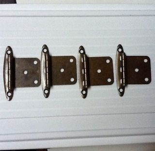 50 Cabinet Hinges With Screws Antique Brass Coated Finish