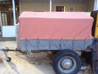 Small Old 1920S 30S Camp Cargo Trailer Ford Model A