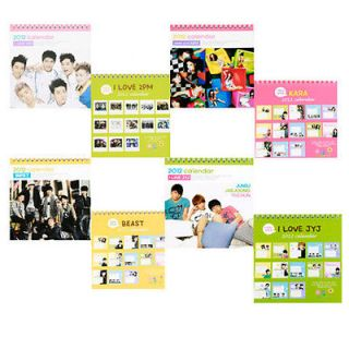 2012 DESK Calendar   JYJ,TVXQ,SNSD,​Super Junior,U Kiss,​Bigbang