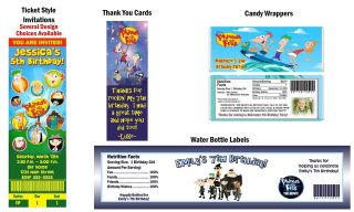 Phineas and Ferb ~ Birthday Party Ticket Invitations, Supplies, Favors