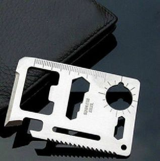 11 in 1 Multifunction Multi Credit Card Survival Knife Camping Tool