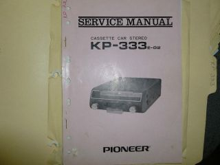 PIONEER Car Stereo Cassette Player KP 343  Original paper SERVICE