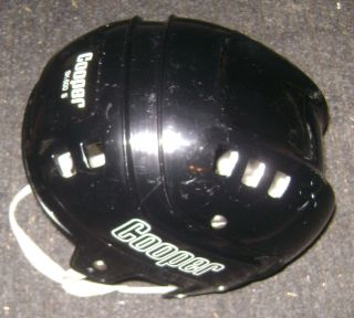 VINTAGE COOPER SK 600S BLACK HOCKEY HELMET HURLING SMALL ADULT SIZE