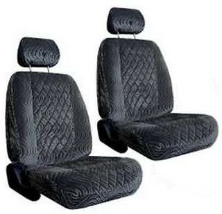 Grey Diamond Swirl Low Back Bucket Car Truck SUV Seat Covers #4